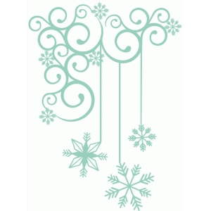snowflake drop corner flourish