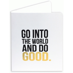 go into the world a2 card