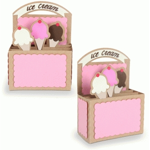 rectangle box card-ice cream