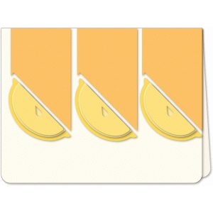 lemon slice trio a6 card