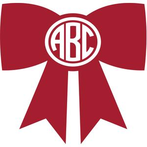 christmas bow monogram