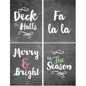 christmas chalkboard 3x4 cards