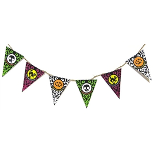 halloween party flag banner