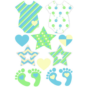 baby boy stickers planning
