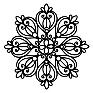 wrought iron mandala