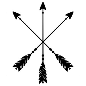 crossed arrow logo