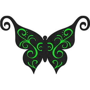 swirly butterfly
