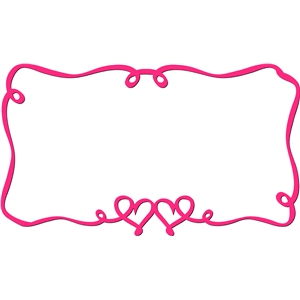 ribbon hearts frame