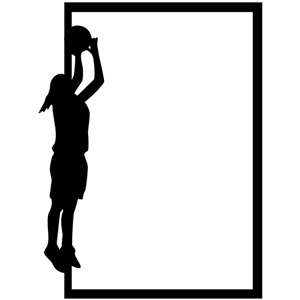 girl basketball frame tall
