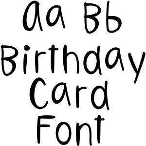 birthday card font
