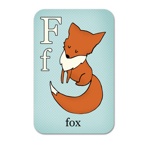 alphabet playing cards - f