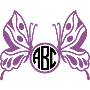 butterflies monogram