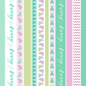 bunnyville washi sticker planner tape