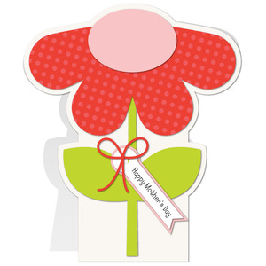 flower shaped mother day card