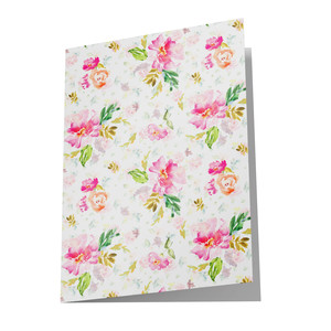 blank watercolor floral card