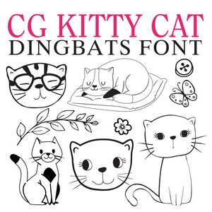 cg kitty cat dingbats