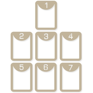 3x4 vertical 'number' life cards