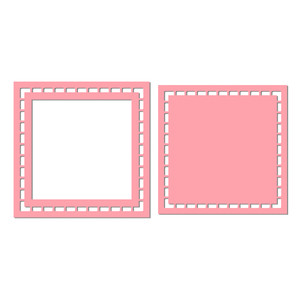 cutout border square frame