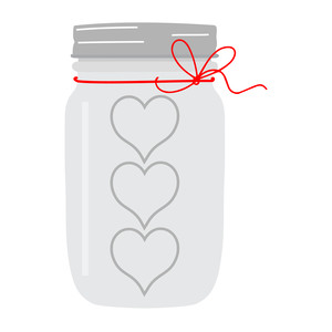 mason jar with bow