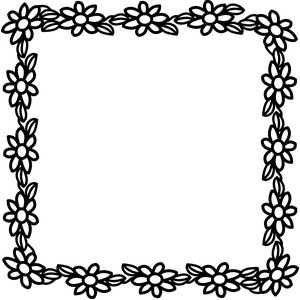 square flowers frame