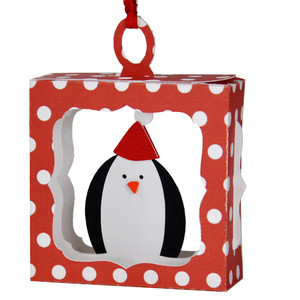 penguin hanging ornament box