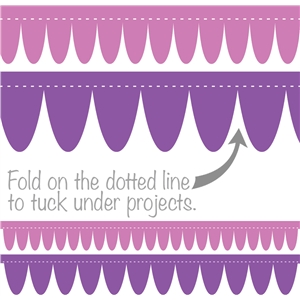 border round pennant folding edge