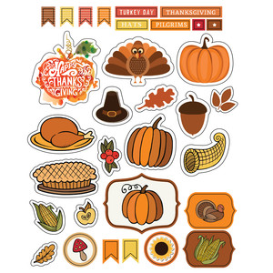 ml turkey day stickers
