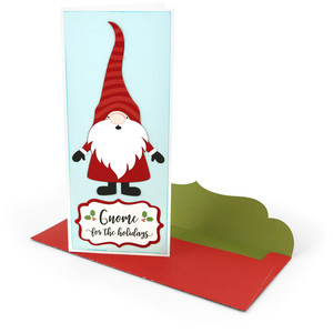 gnome for the holidays #10 card + envelope