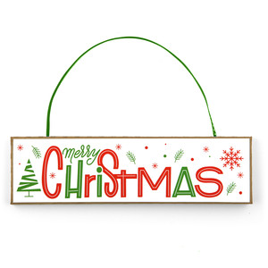 christmas ornament sign merry christmas