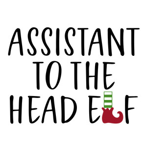 assistant to head elf - family shirt