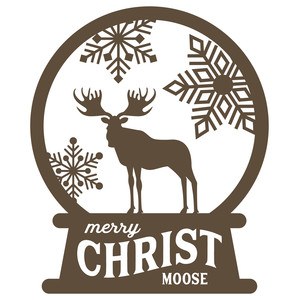 snow globe - merry christ-moose