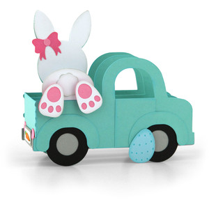 box card truck easter bunny