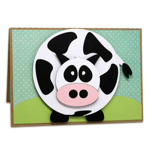 a2 pop-up holy cow birthday card