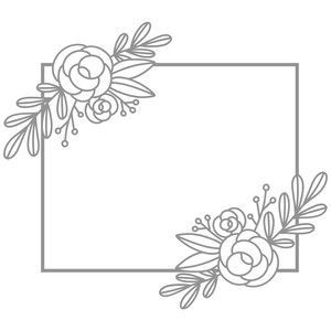 double rose swag frame