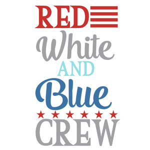red white blue crew