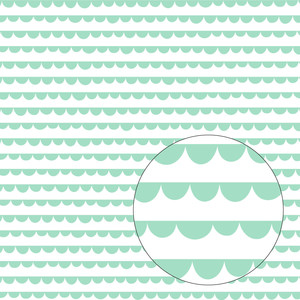 aqua scallop pattern