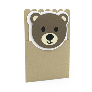 bear face card