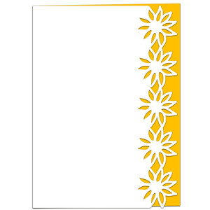 little sunflowers lace edged card