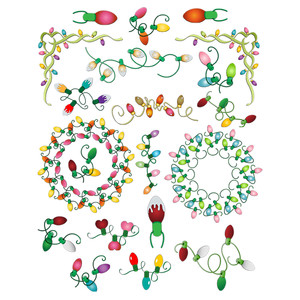 christmas lights planner stickers