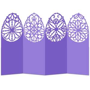 easter egg lace accordion card