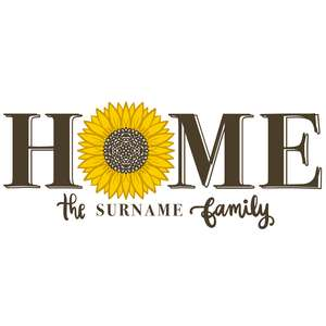 home sunflower family porch sign