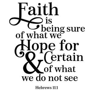 faith is being sure quote