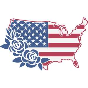 american flag floral
