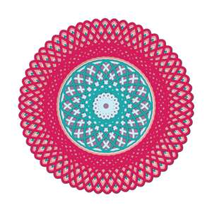 multi layer mandala round
