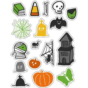 ml scary halloween stickers