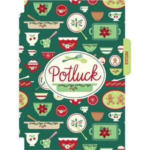 holiday cookbook potluck divider