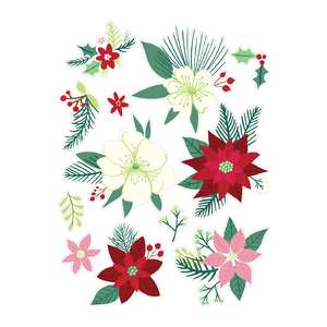 holiday cookbook floral stickers