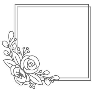 flower square frame