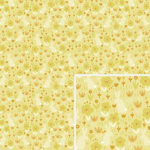 yellow flower field pattern