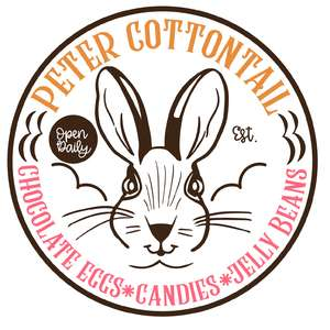 peter cottontail circular sign